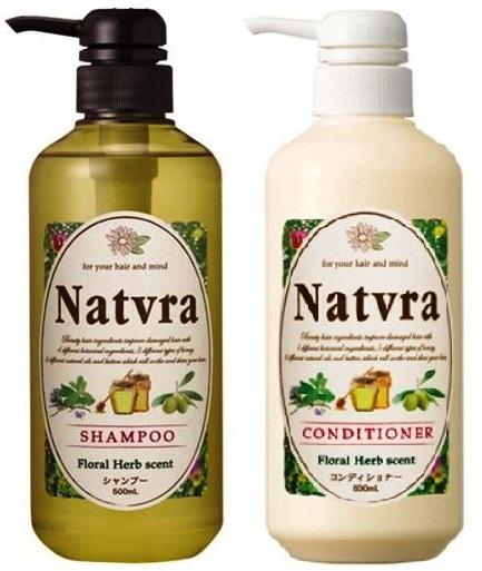 """232657 SPR """"Natvra"""" Восстанавливающий шампунь для роста волос, без силикона, с аромамаслами, 500 мл"""