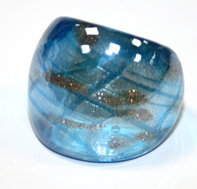 129371 Кольцо из муранского стекла. (№4) Размер 18