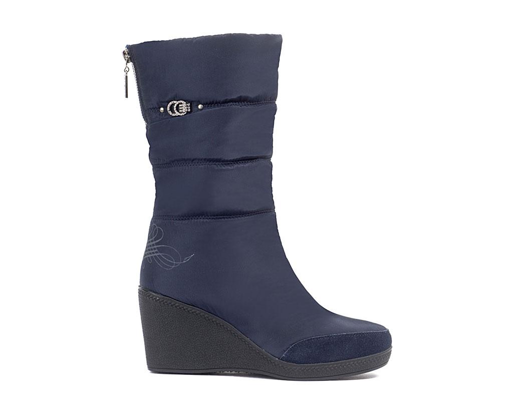 2018_Сапоги женские KB596 Blau Синий KING BOOTS Германия
