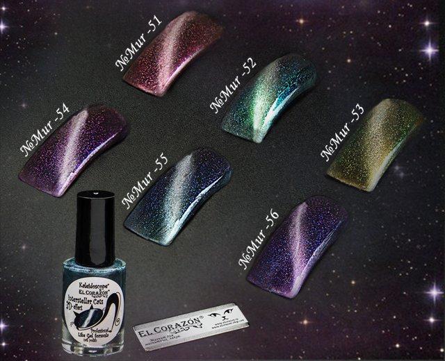 Kaleidoscope® by EL Corazon® Магнитный лак для ногтей «Кошачий глаз»  серия «Interstellar cats»  №Mur-56