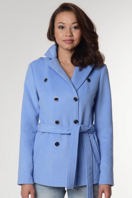 Пальто 63416 голубой