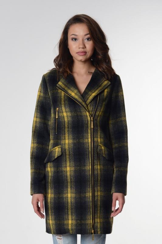 Пальто 63412 желтый