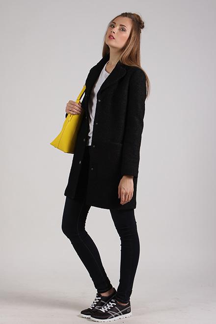 Пальто 63366 черный