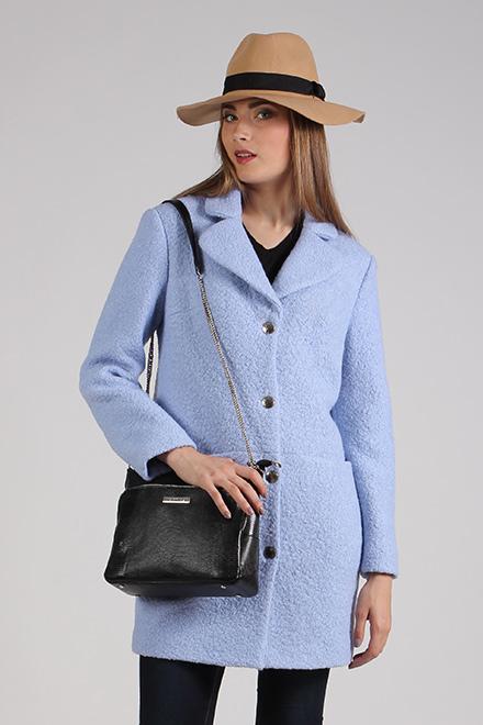 Пальто 63366 голубой