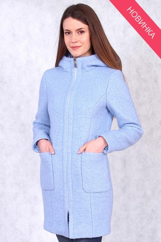 Пальто 63354 голубой