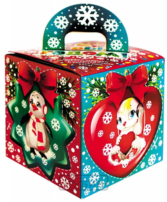 Новогодний подарок Кубик (картон, 80 г)