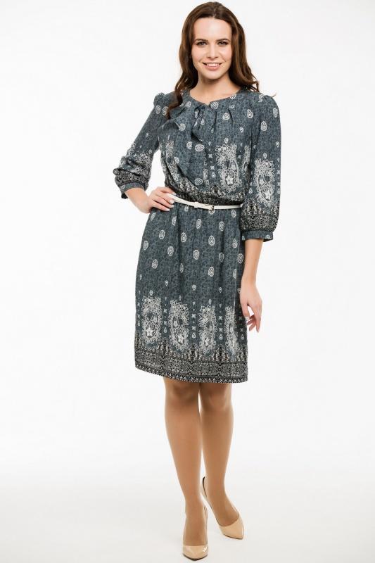 Платье с ремнем 7426