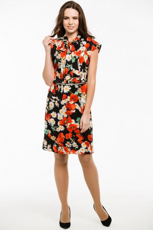 Платье с ремнем 7435