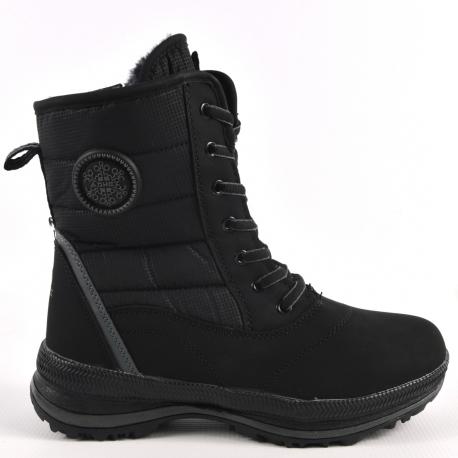 Aowei Ботинки зимние женские  Артикул: OM-B2616-5-BLACK