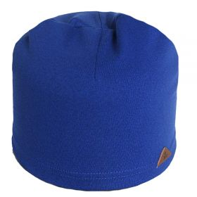 вм1028-53 Шапка трикотажная одинарка колпачок синяя