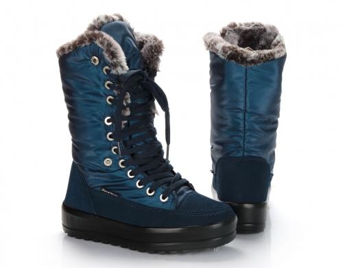 Сапоги женские KB517BL Blau Синий KING BOOTS Германия