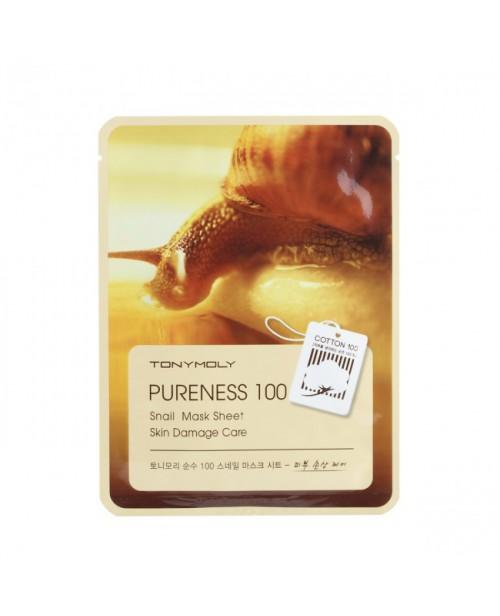 Маска для лица тканевая с улиточным муцином Pureness 100 Snail Mask Sheet