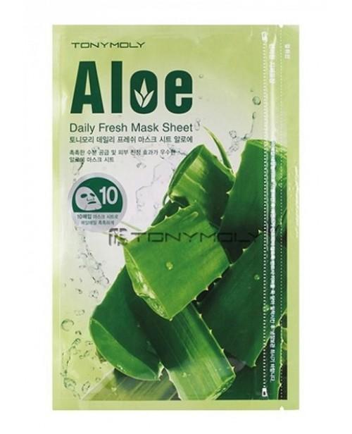 """Тканевая маска с экстрактом алоэ \""""Daily Fresh Mask Sheet Aloe\"""", 10шт"""