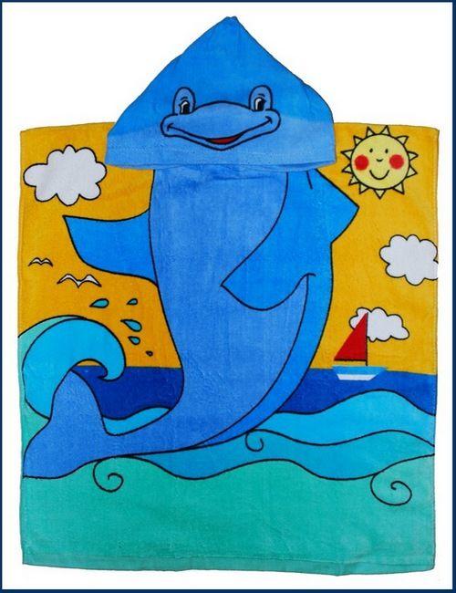 Детское пончо Дельфин