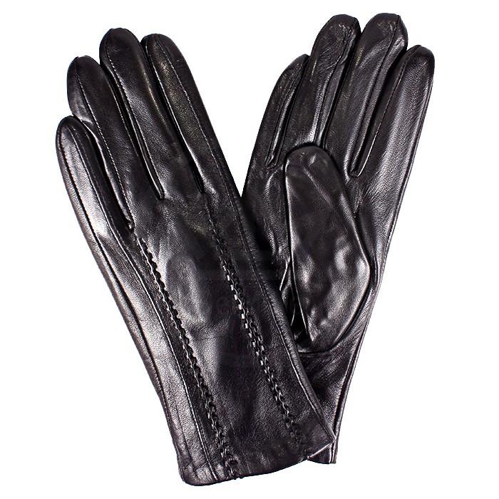 ER-723 Перчатки Жен, нат/к (овч) , черный, велюр 181545