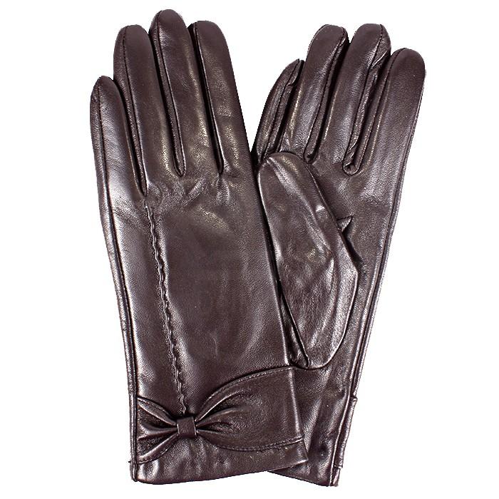 ER-427 Перчатки Жен, нат/к (овч) , коричневый, велюр 181547