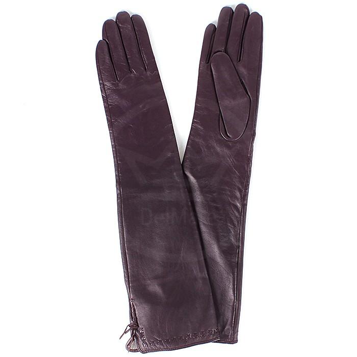 ES-016 Перчатки Жен, нат/к (козл) , фиолетовый, п/ш ДЛИННЫЕ 161845