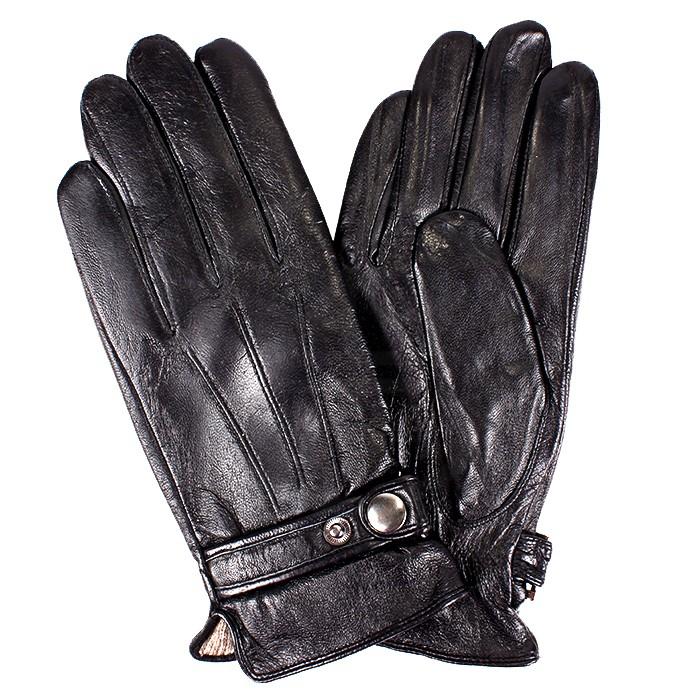 ES-10027 Перчатки Муж, нат/к (овч) , черный, п/ш 181591