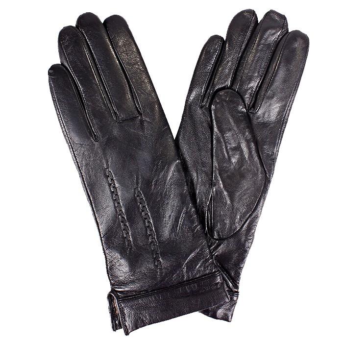 ES-2538 Перчатки Жен, нат/к (овч) , черный, п/ш 181555