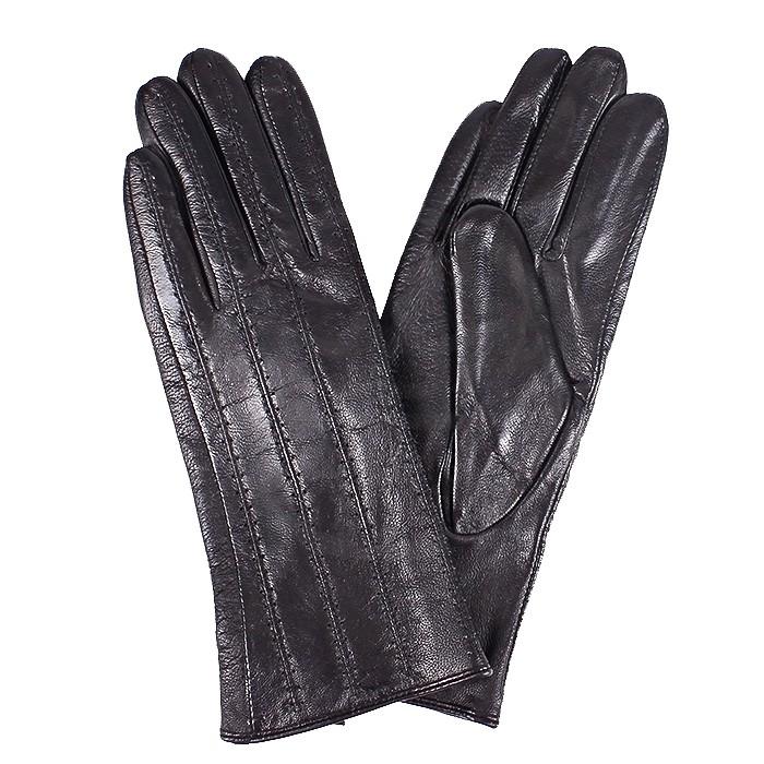 ES-L 2647 Перчатки Жен, нат/к (овч) , черный, п/ш 181550