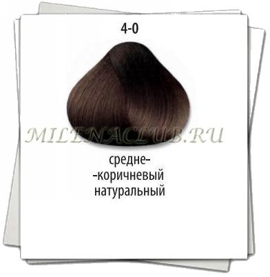 CD TRIONFO стойкая крем-краска для волос 4-0 Средний коричневый натуральный 60 мл