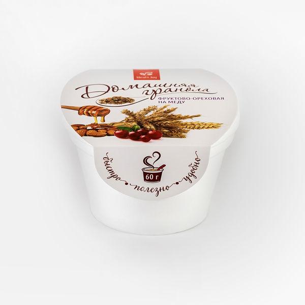 Гранола фруктово-ореховая на меду, 60г