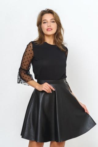 юбка полусолнце кожаная N 1