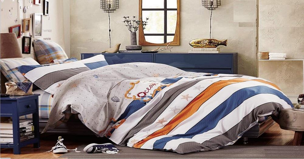 """Артикул: 656. Комплект постельного белья (КПБ) из сатина """"Океан"""""""