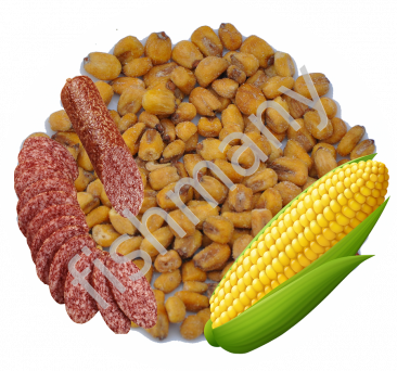"Жареная кукуруза \""Мезките вкус копченостей\"" 1кг, заказ от 250г"
