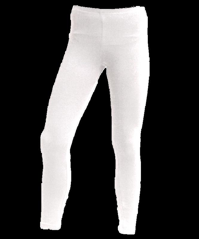 Лосины гимнастические, хлопок, белые, р. 30-34