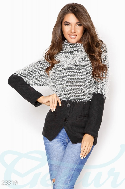 Комбинированный женский свитер