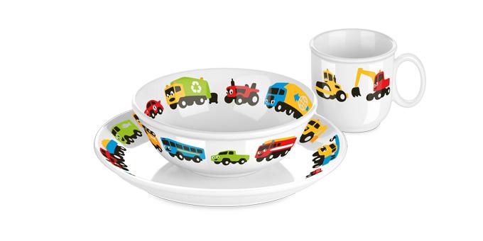Набор посуды BAMBINI, машинки, 3 шт., Tescoma 667955