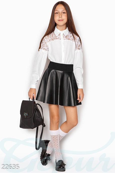 School Детская гипюровая рубашка