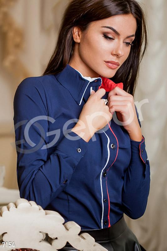 Классическая котоновая рубашка с кантом