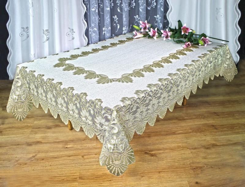 Скатерть 226250/140, прямоугольная, размеры: 140 см Х 240 см, цвет: ванильно-оливковая