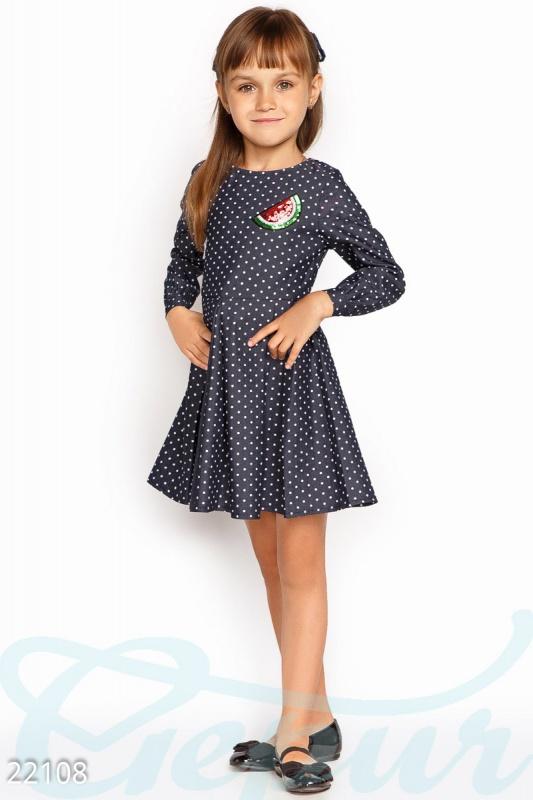 Kids Платье девочки горошек