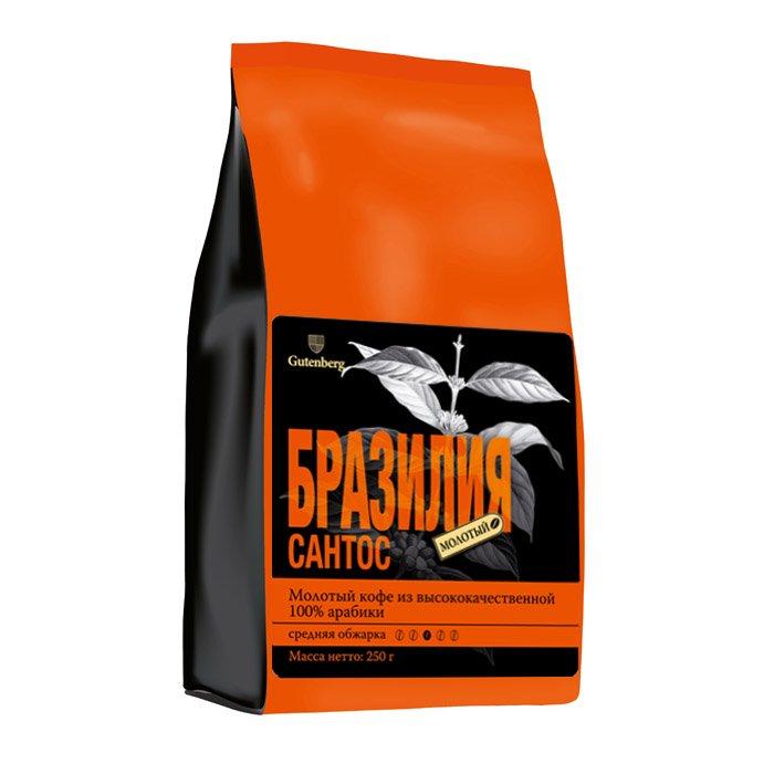 1185-250M Кофе молотый Бразилия Сантос 250 г