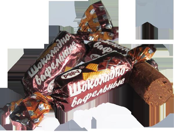 Конфеты Шоколадно-вафельные 1,0 кг (Рахат)