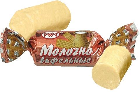 Конфеты Молочно-вафельные неглазир. 1,0 кг (Рахат)