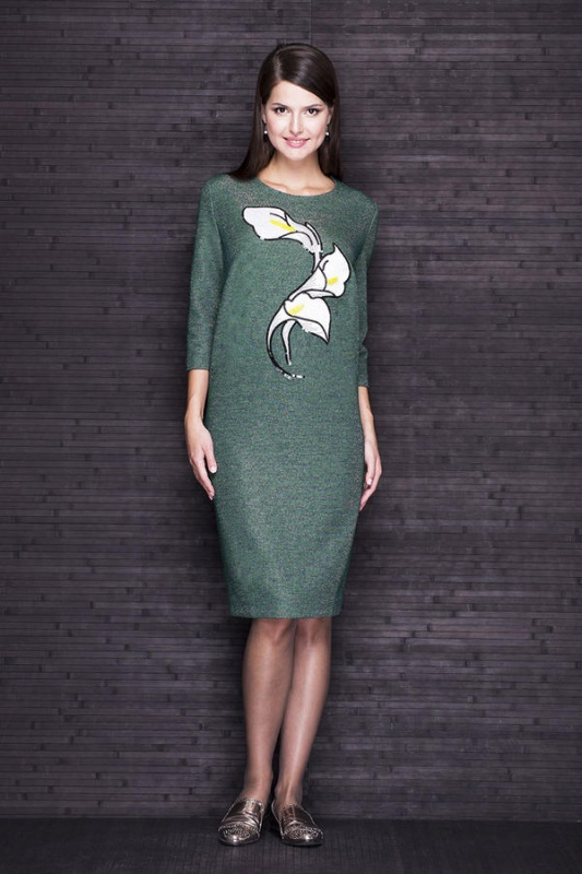 Платье Faufilure SALE С214 зеленое