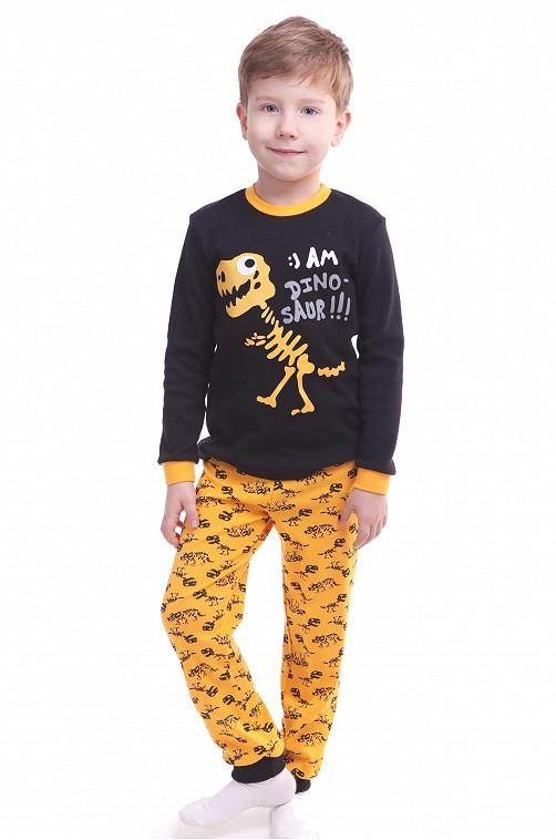 Пижама для мальчика Свiтанак оптовая цена 407р. Артикул: SV218878 Цвет: динозавр,черный