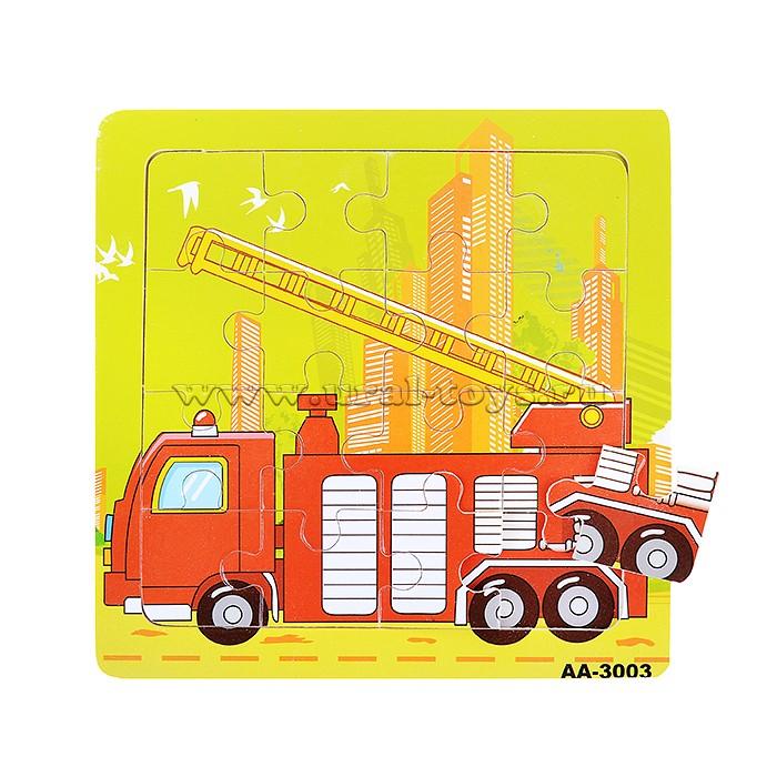 Пазл деревянный Пожарная машина