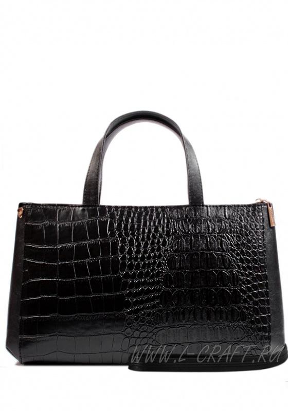 Модель №1228 | кожзам | плетенка | черный | Р790-1 | 21586