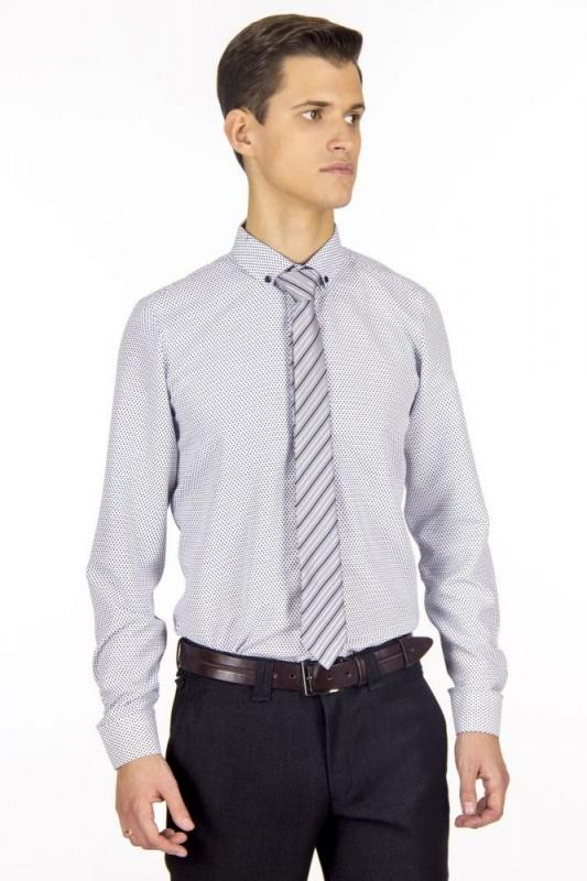 сорочка притал белая узор средн длин