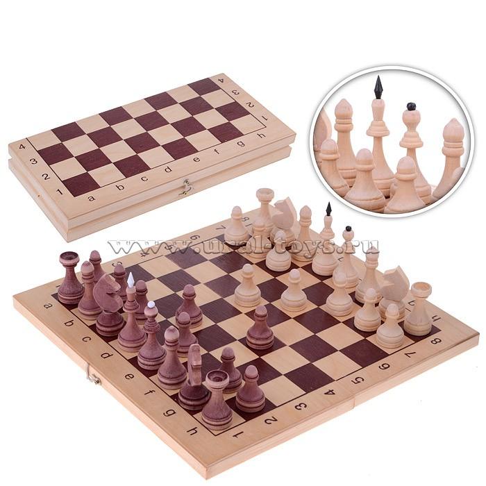 Шахматы обиходные парафинированные в доске