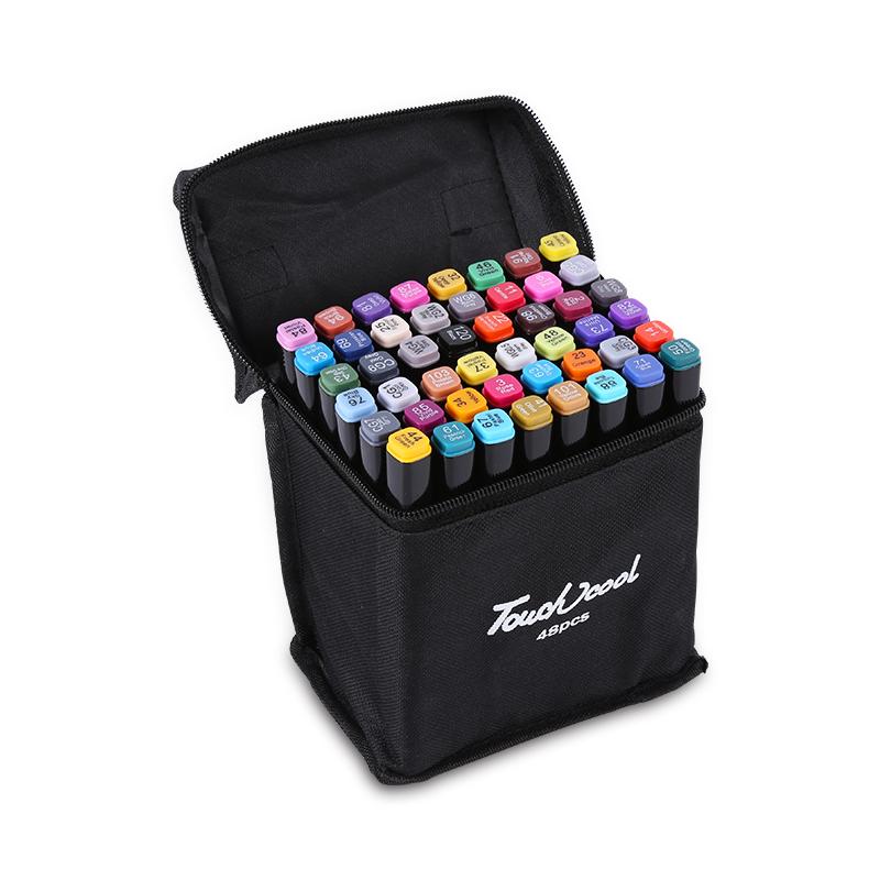 Набор маркеров, двусторонние 80 шт, в сумке