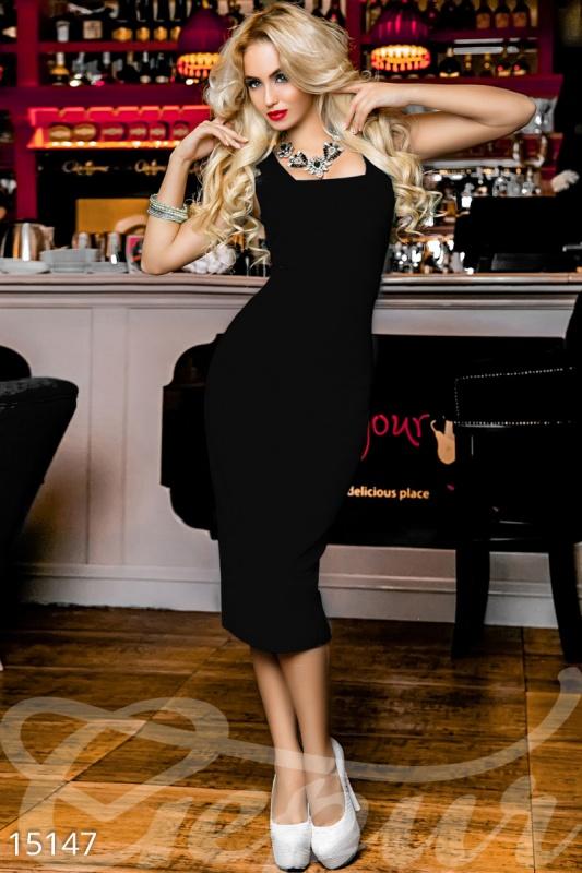 Vintage Лаконичное облегающее платье
