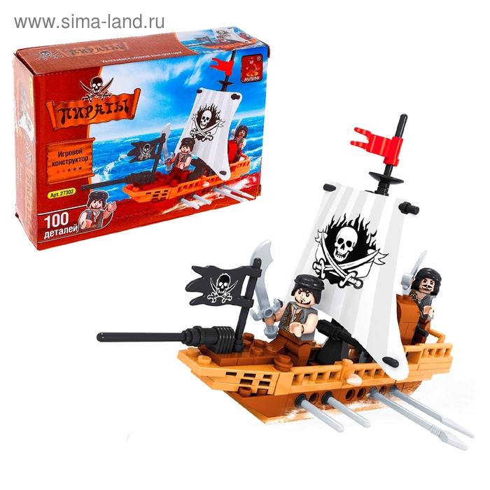 """Конструктор Пираты \""""Пиратская лодка\"""", 100 деталей"""
