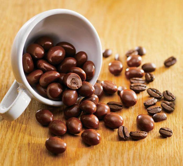 Кофейные зерна в белом шоколаде