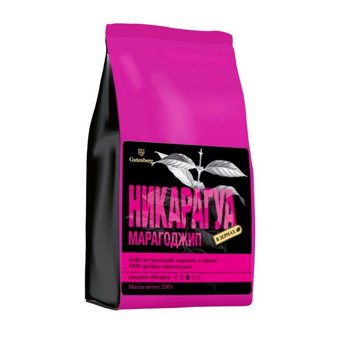 1135-250 Кофе в зернах Никарагуа Марагоджип 250 г